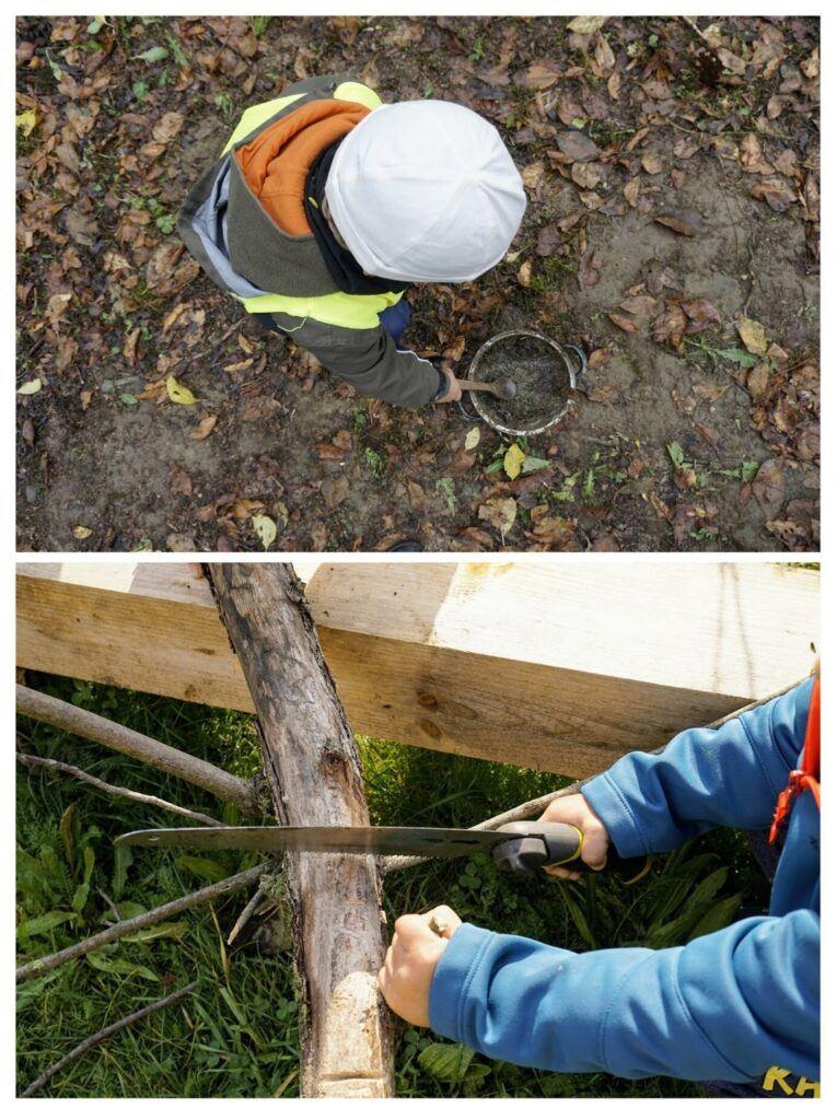 Děti z lesní školky zažívají opravdové činnosti.